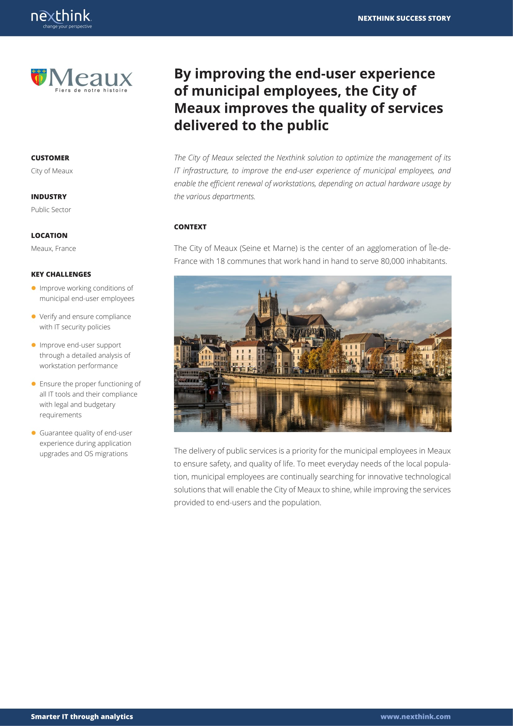 City of Meaux: By improving the end-user experience of municipal employees, the City of Meaux improves the quality of services delivered to the public