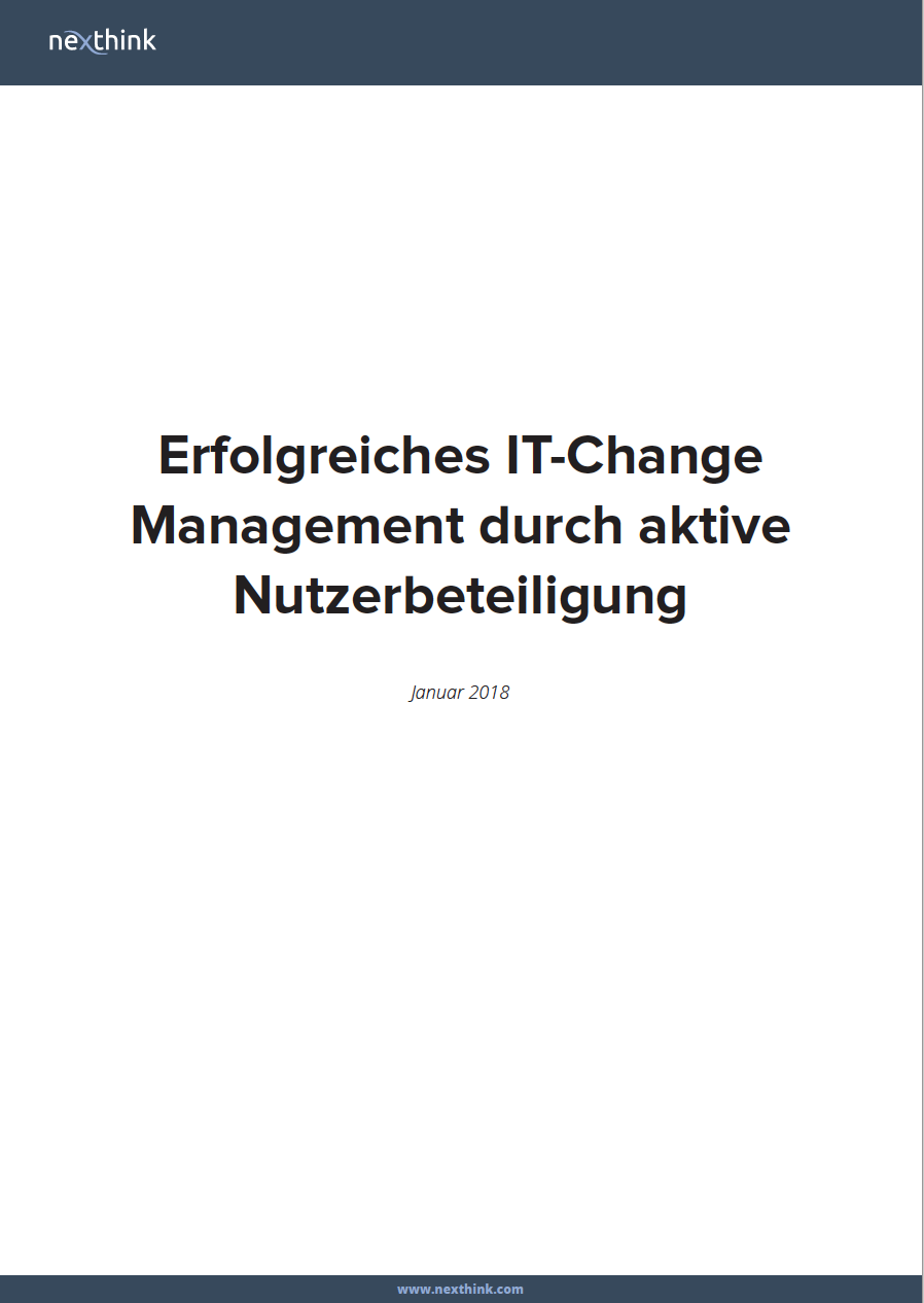 Erfolgreiches IT-Change Management durch aktive Nutzerbeteiligung