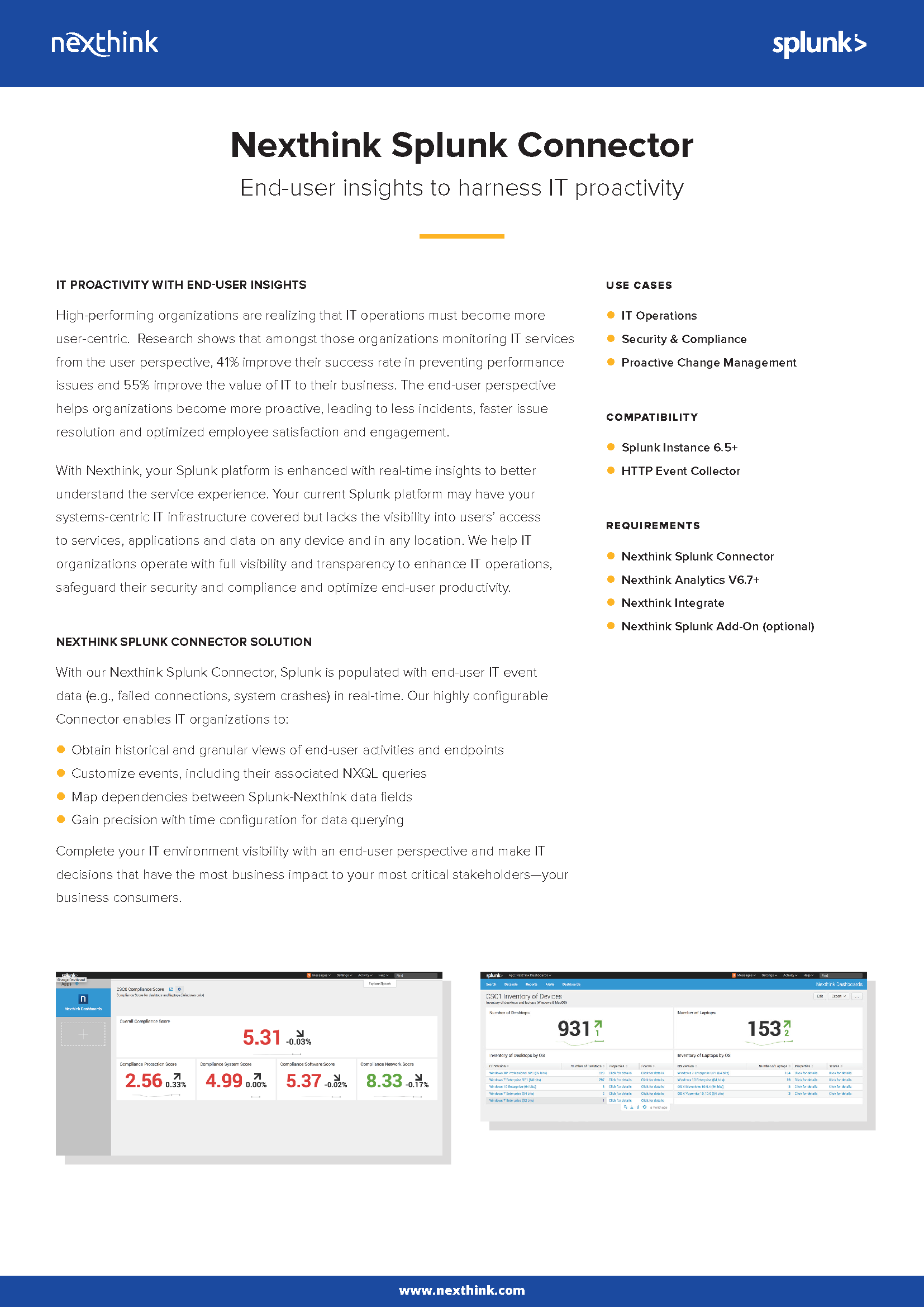 Splunk Connector Fact Sheet
