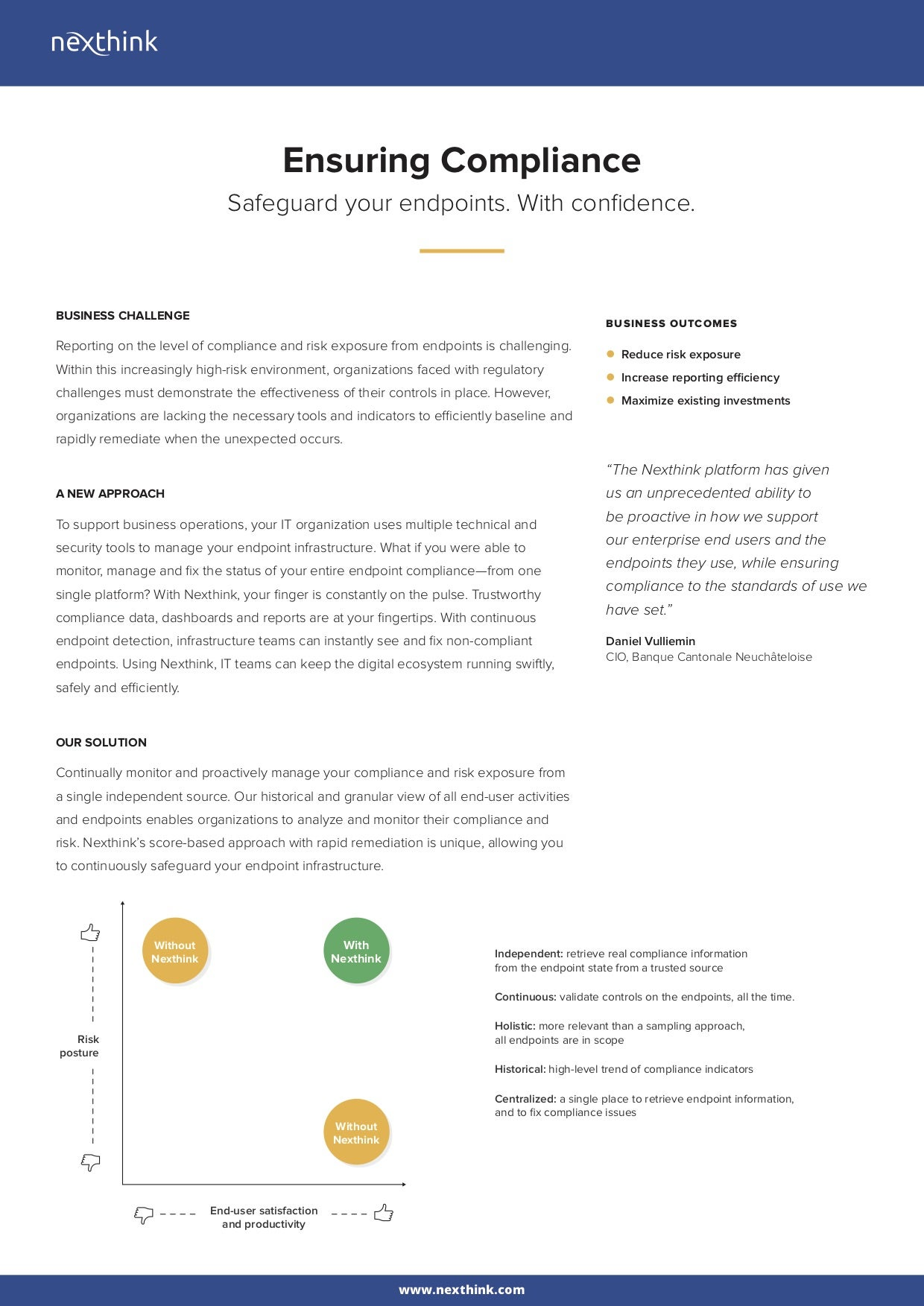 Ensuring Compliance Solution Brief