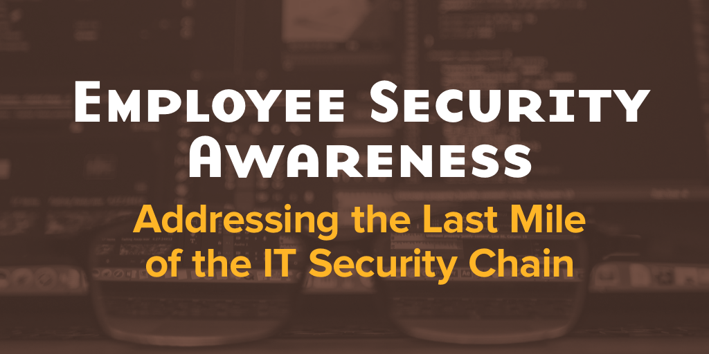 Addressing the Last Mile of the IT Security Chain: The Employee