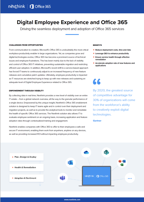 Office 365 Solution Brief