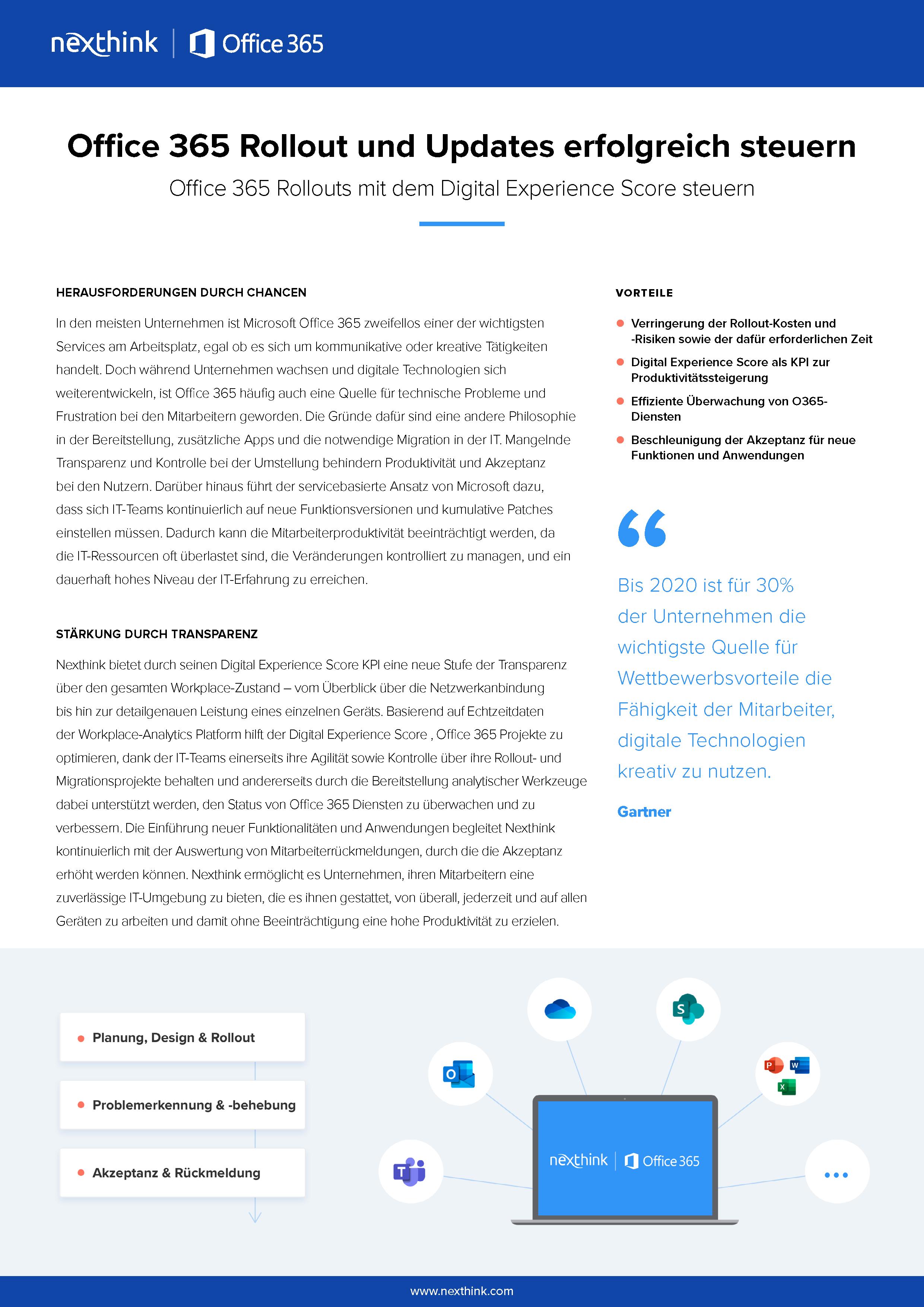 Office 365 Rollout und Updates erfolgreich steuern