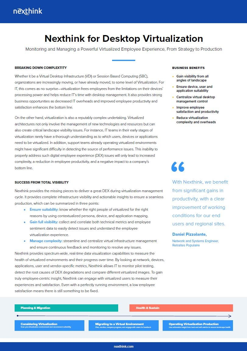 Desktop Virtualization Solution Brief