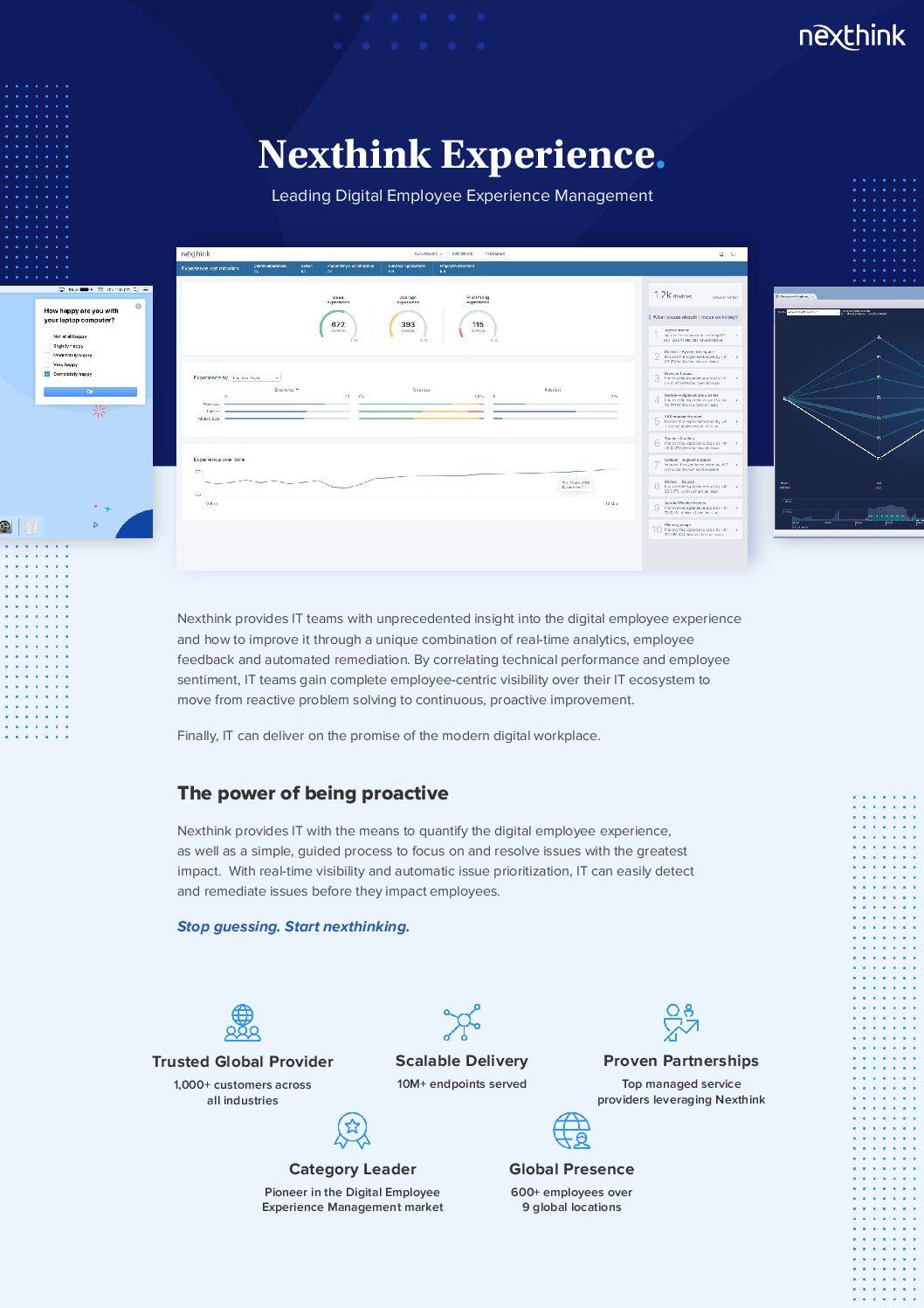 Nexthink Experience Platform Brief