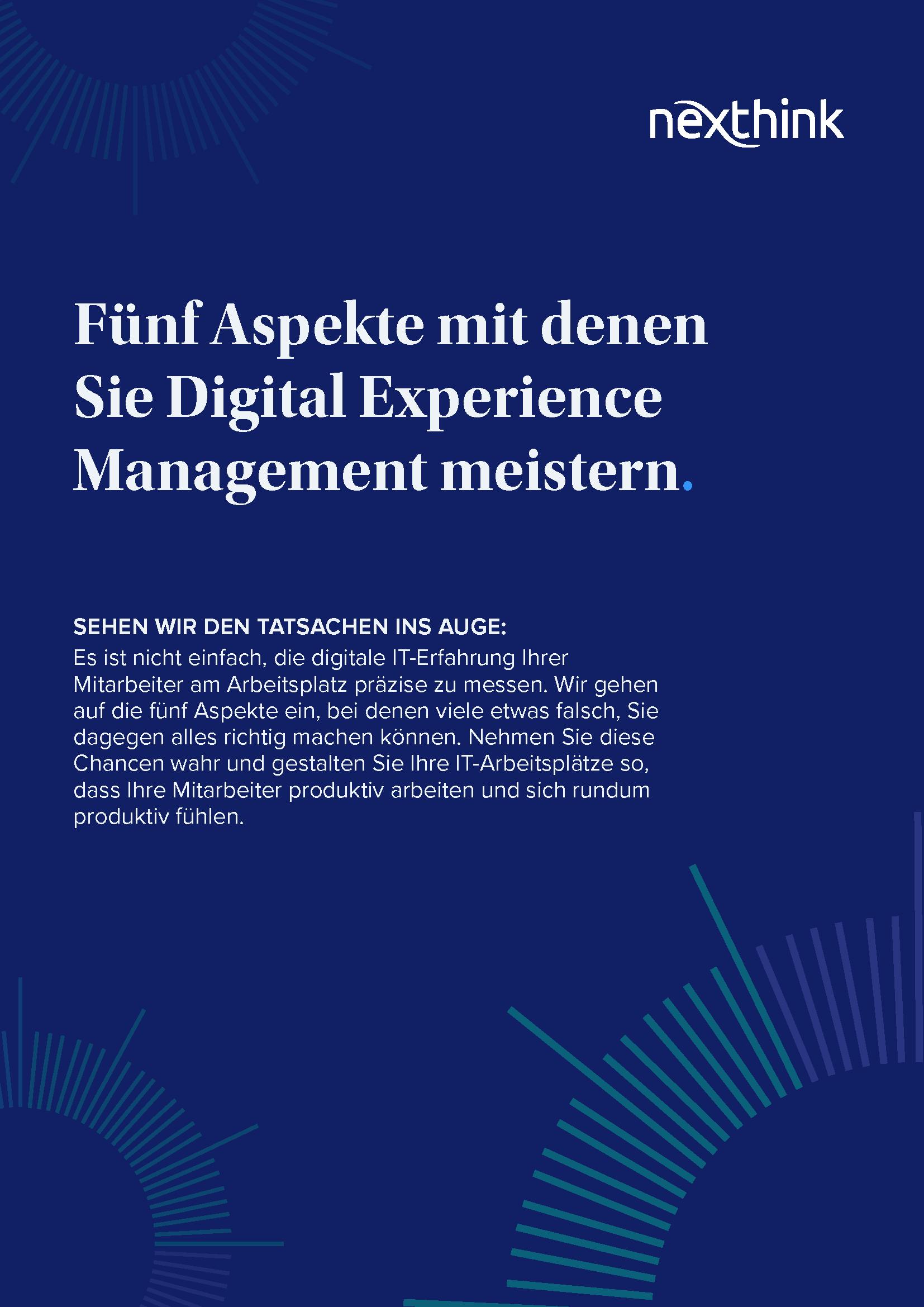 Fünf Aspekte, mit denen Sie Digital Experience Management meistern