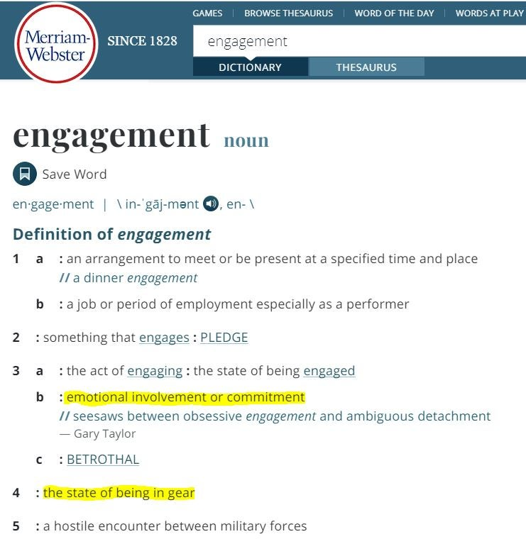 engagement definition