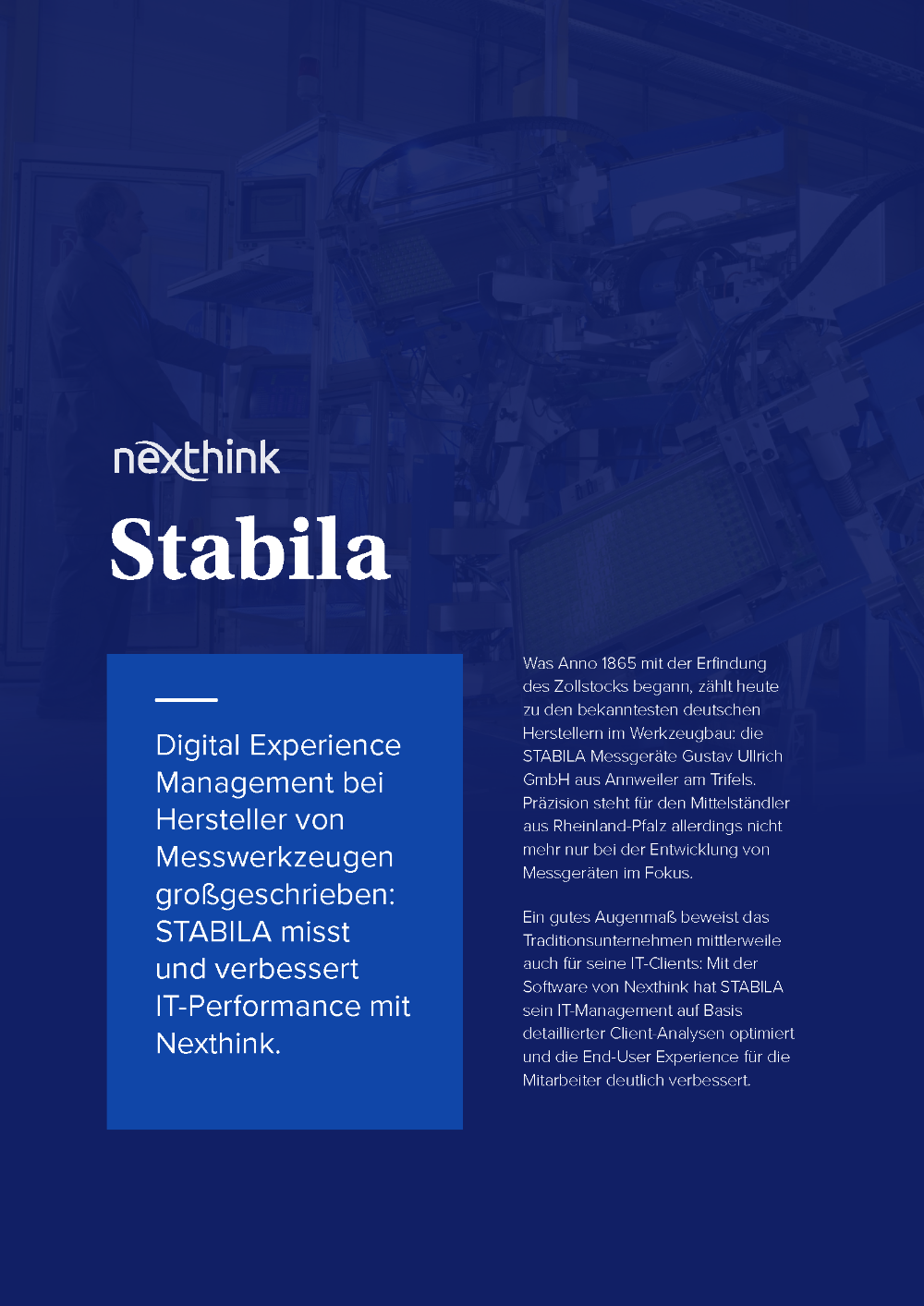 STABILA verbessert IT-Performance mit Nexthink