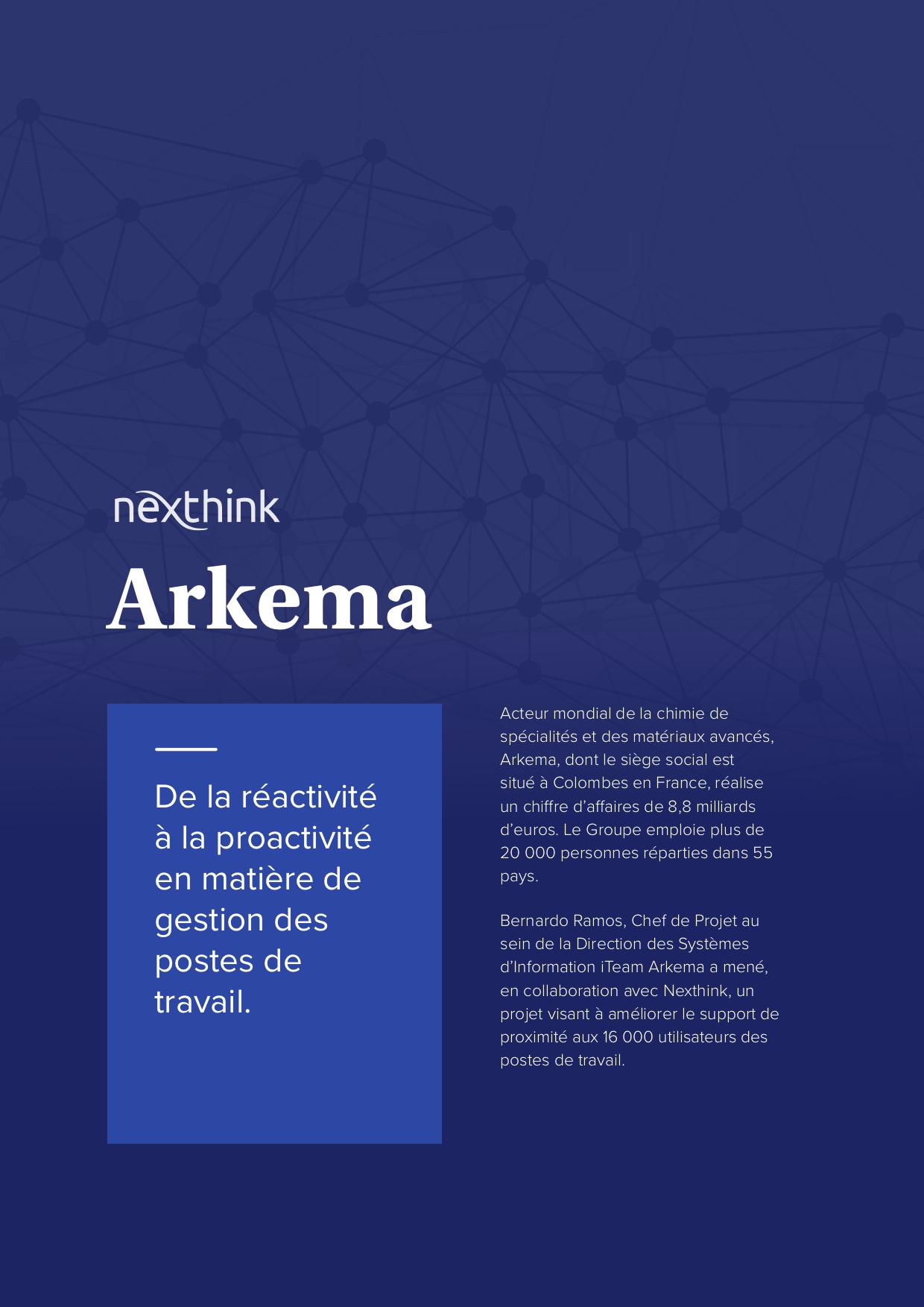 Arkema : de la réactivité à la proactivité