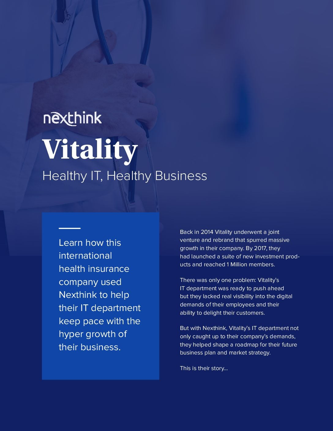 Vitality's IT Uses Nexthink To Fuel Hypergrowth