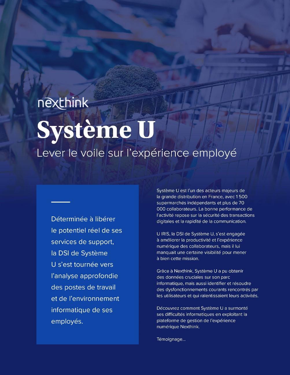 Système U : Lever Le Voile Sur L'Experience Employé
