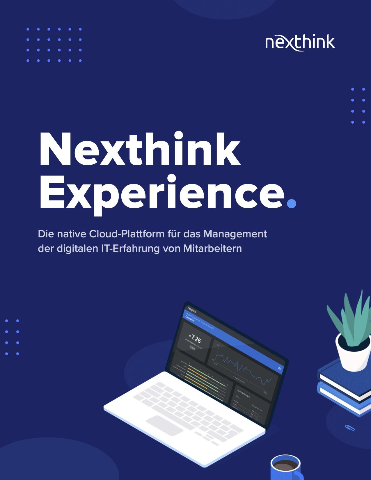 Überblick über die Nexthink Experience Plattform