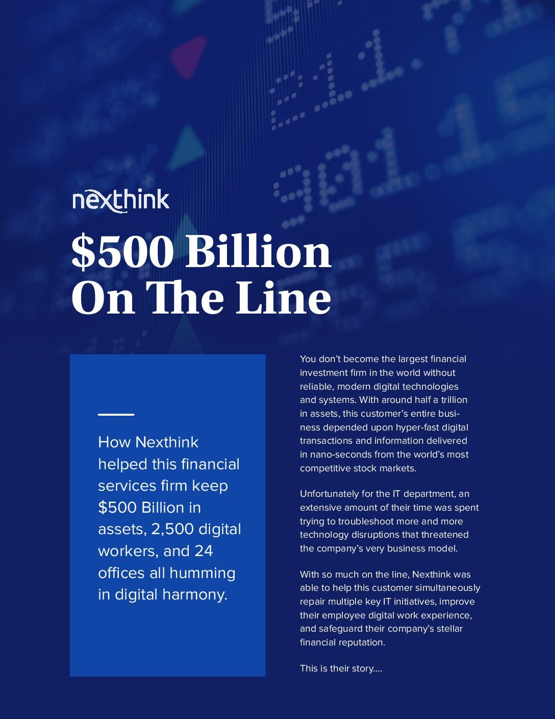 $500 Billion on the Line: How One IT Dept. Stepped Up Big