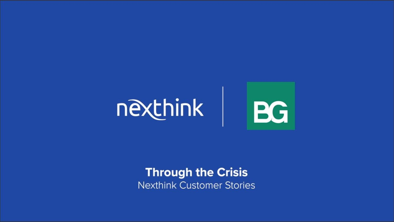 Through the Crisis: Nexthink Customer Stories (BG Engineering)