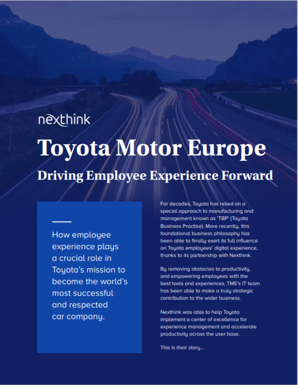 Driving Employee Experience Forward for Toyota