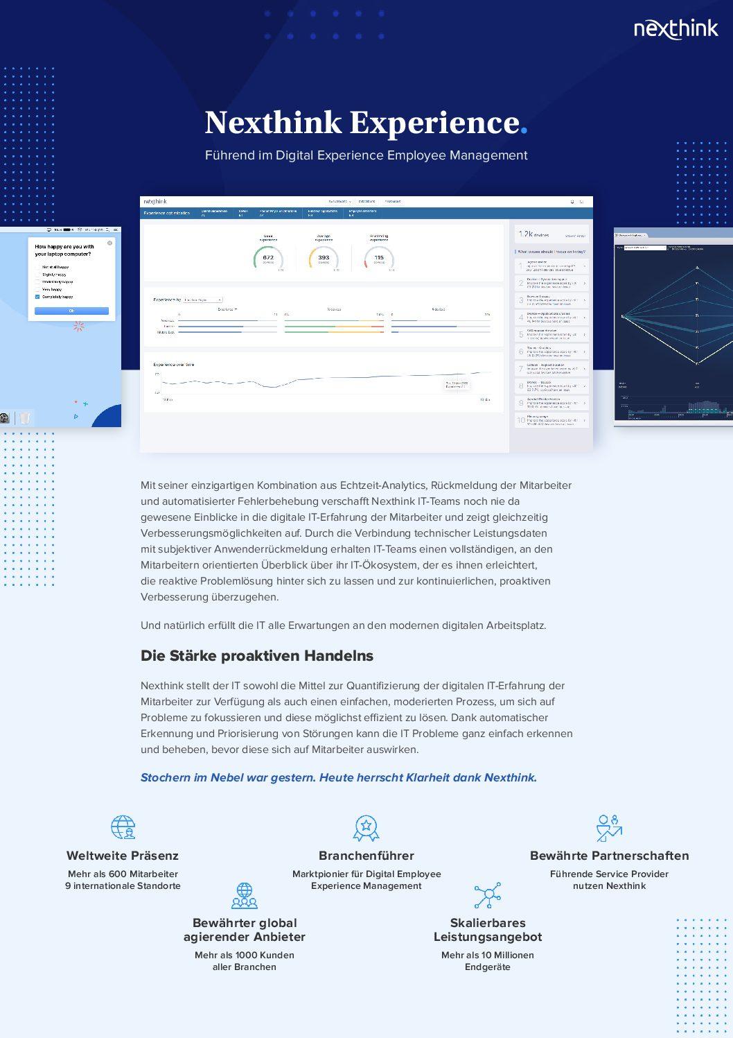 Nexthink Experience Plattform