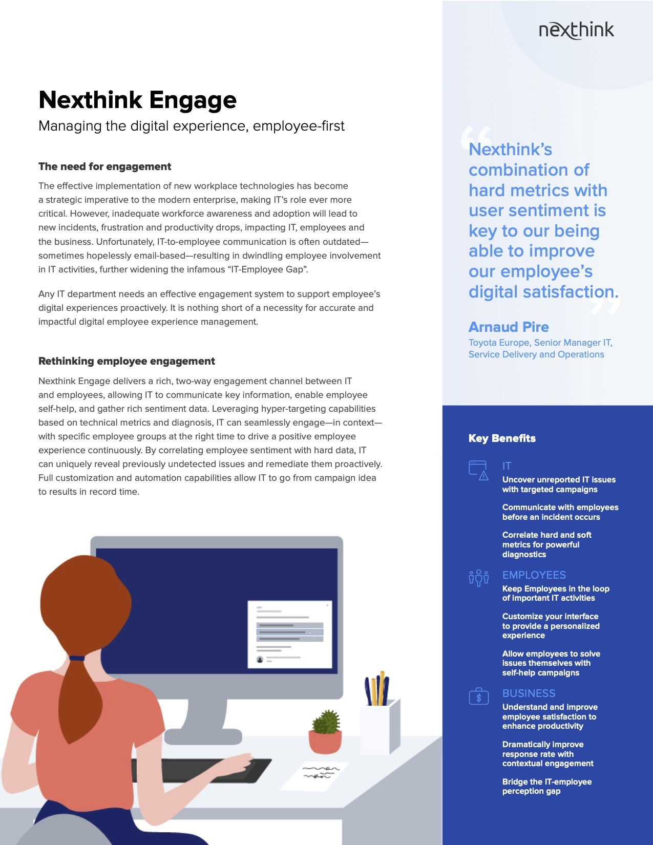 Nexthink Engage Solution Brief