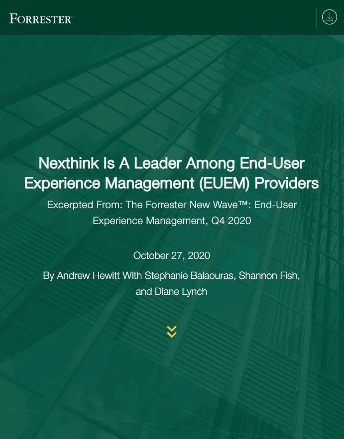 Nexthink Named a Leader in End-User Experience Management