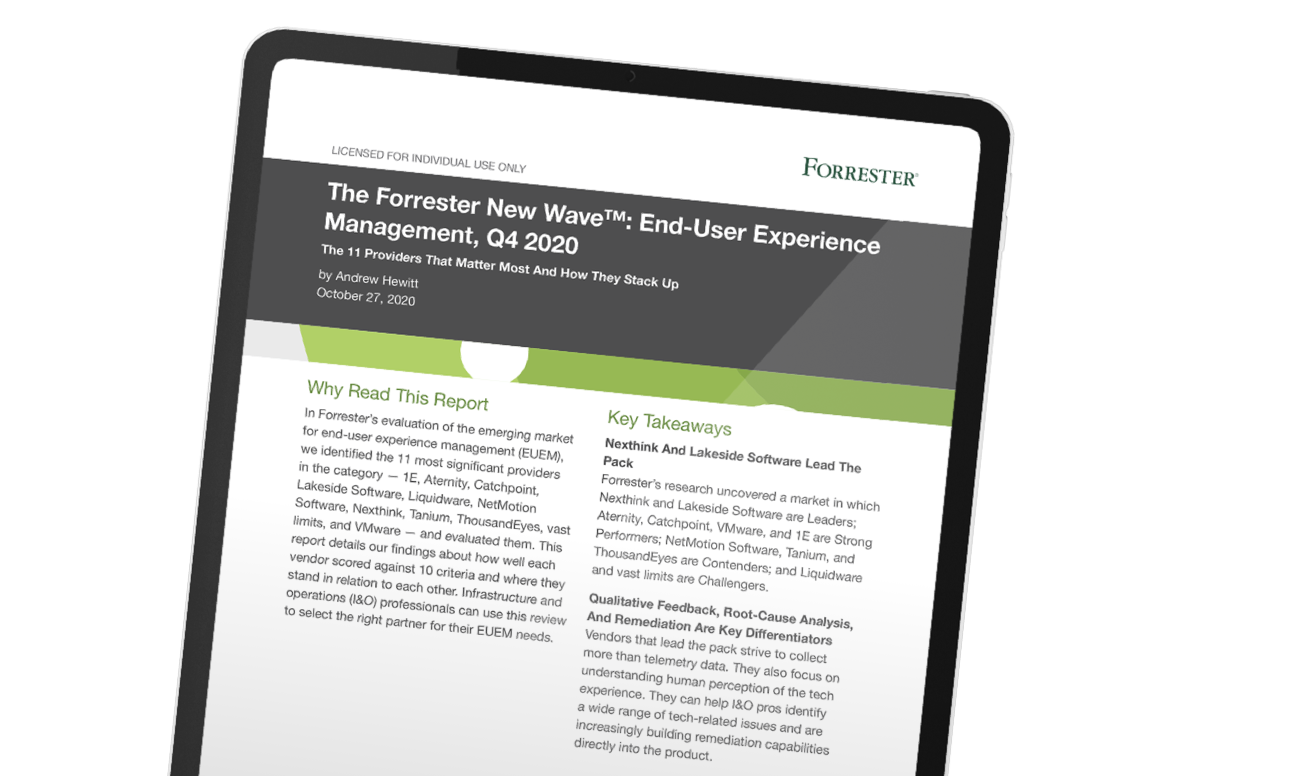 The Forrester New Wave™: End-User Experience Management, Q4 2020
