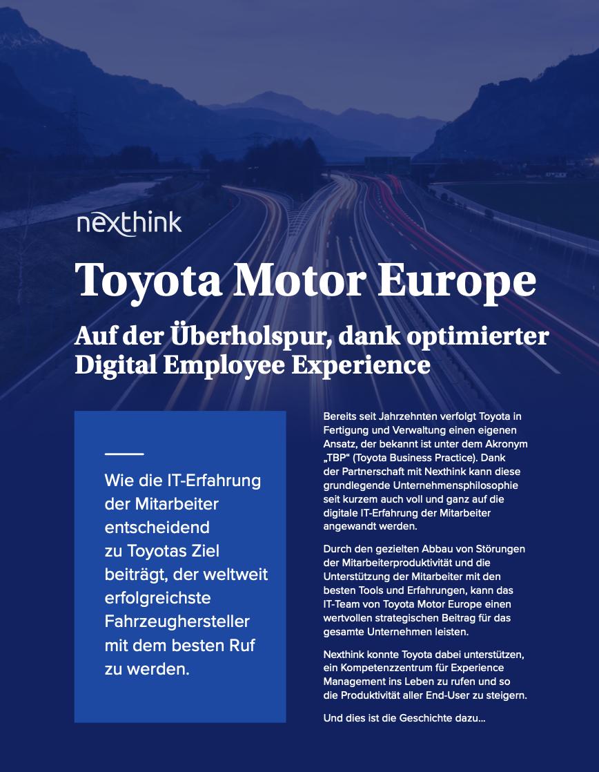 Digital Employee Experience für Toyota vorantreiben