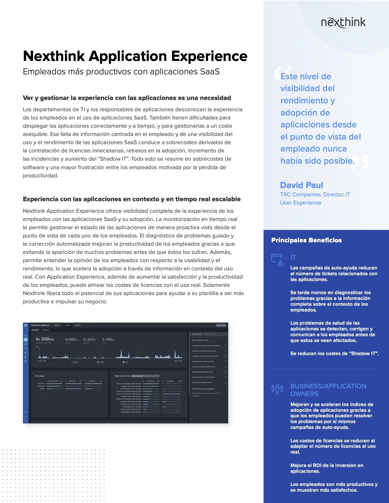 Nexthink Application Experience