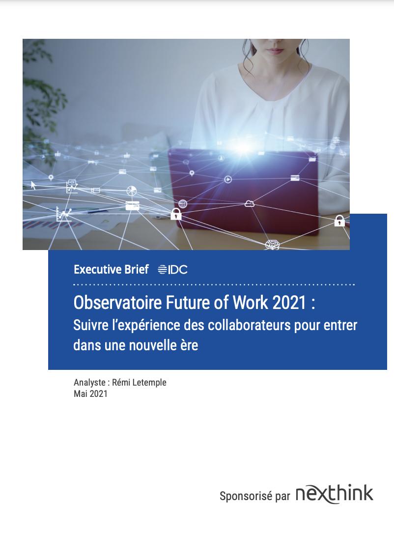 Observatoire Future of Work 2021, par IDC