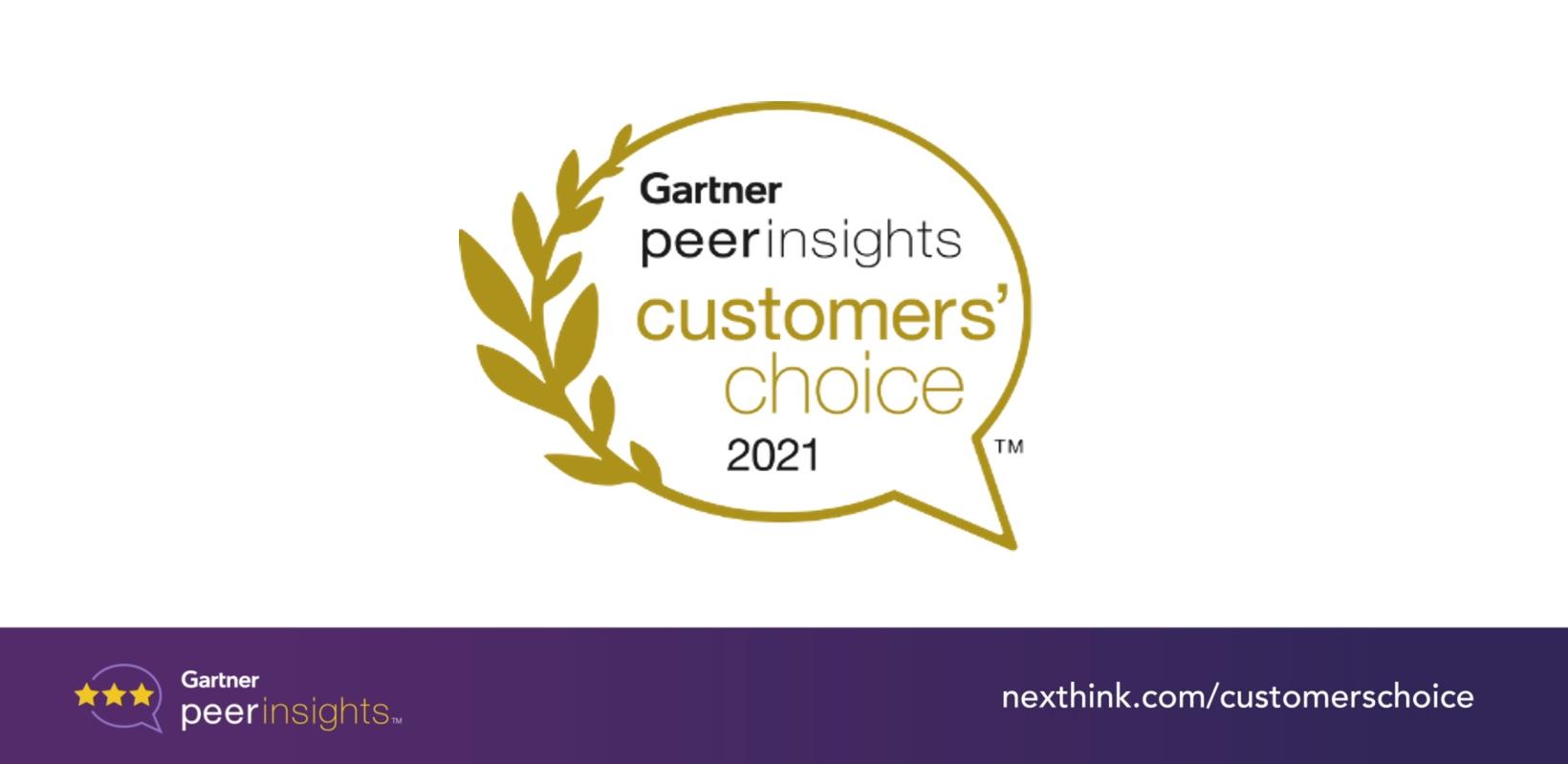 Nexthink Named Customers' Choice in 2021Gartner®Voice of Customer Report